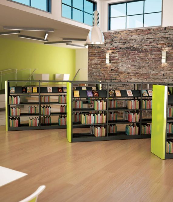 Mobile Library Book Shelving